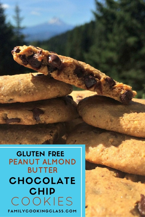 pintrest peanut almond butter chocolate chip cookies